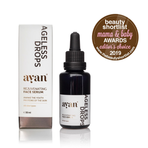 AYAN Ageless drops - Rejuvenating face serum, omlazující sérum 30 ml