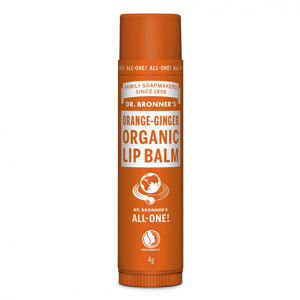 Dr. Bronner's Balzám na rty Orange Ginger 4 g