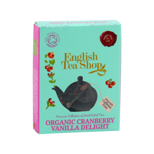 English Tea Shop Rooibos, potěšení z brusinek a vanilky, bio 2 g, 1 ks