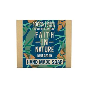 Faith in Nature Tuhé mýdlo modrý cedr, Faith for men 100 g