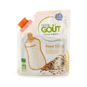 Good Gout BIO Dětská ovesná, pšeničná a rýžová instantní kaše v prášku 200 g
