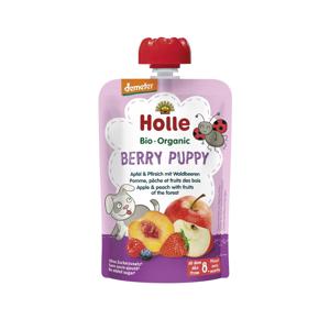 Holle Berry Puppy Bio ovocné pyré jablko, broskev a lesní plody 100 g