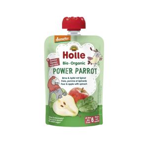 Holle Power Parrot Bio pyré hruška, jablko a špenát 100 g