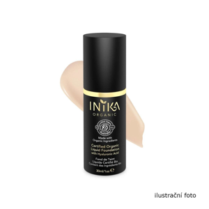 Inika Organic Tekutý make-up s kyselinou hyaluronovou, Porcelain 4 ml