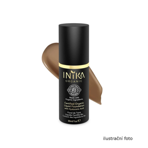 Inika Organic Tekutý make-up s kyselinou hyaluronovou, Toffee 4 ml