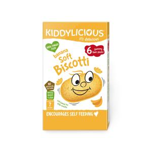 KIDDYLICIOUS Soft Biscotti sušenky měkké banánové 20 g