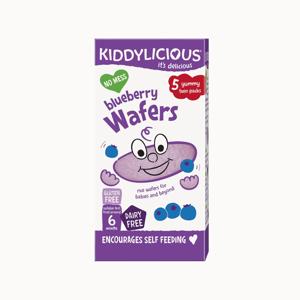KIDDYLICIOUS Wafers Mini blueberry oplatky borůvkové mini 5x4 g