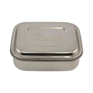 Made Sustained Trojdílný nerezový box, střední 1 ks, 16,7 cm x 12,8 cm x 6 cm