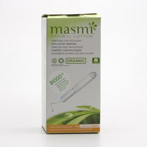 Masmi Tampony Super Plus s aplikátorem z organické bavlny 14 ks