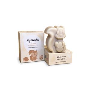 Mydlinka Dětské přírodní mýdlo s kozím mlékem, veverka 90 ± 5 g