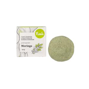 Navia/Kvitok Tuhý šampon s rostlinným kondicionérem, Moringa XXL 50 g