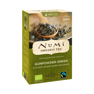 Numi Organic Tea Zelený čaj Gunpowder Green 36 g, 18 ks
