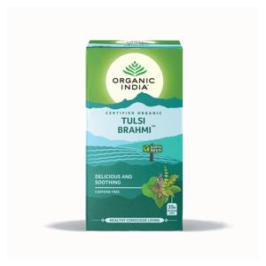 Organic India Čaj Tulsi Brahmi, sypaný, bio 100 g
