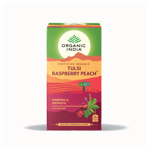 Organic India Čaj Tulsi Raspberry Peach, bio 34,2 g, 25 ks