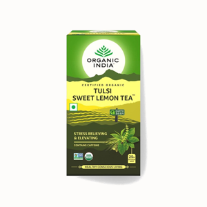 Organic India Čaj Tulsi Sweet Lemon, porcovaný, bio 32,4 g, 25 ks